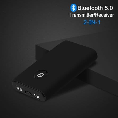 Émetteur Récepteur Bluetooth 5.0 Adaptateur Audio Stéréo Sans Fil 3,5 Mm Aptx